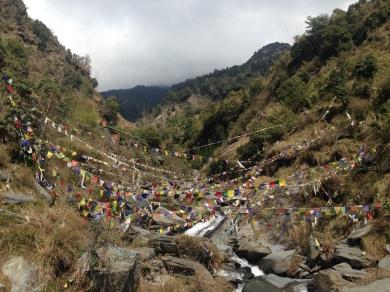 Dharamsala bhagsu waterfall2