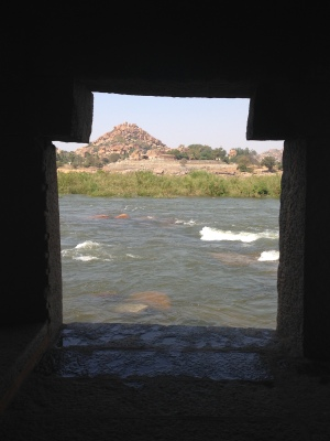 Hampi morning practice view